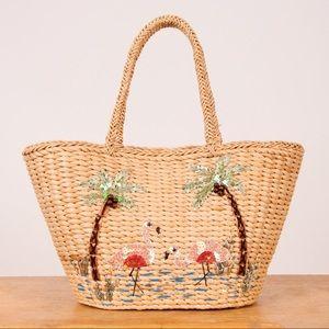 Vintage Basket Bag with Sequin